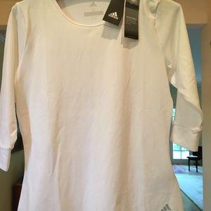 NWT -  White Adidas Climalite top